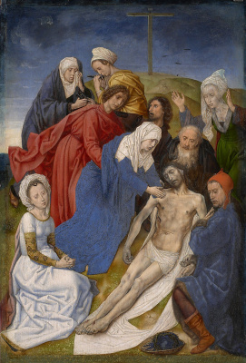 Hugo van der Gus. Lamentation Of Christ