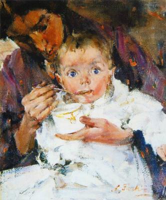Nikolay Feshin. Breakfast.