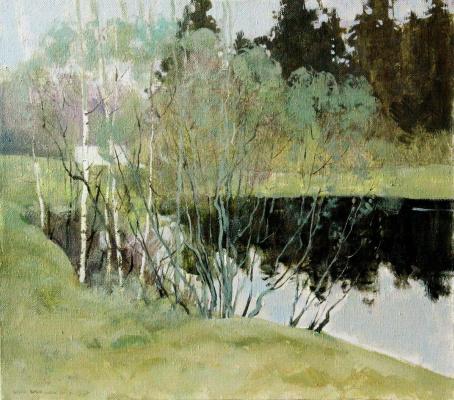 Михаил Васильевич Шмыров. Озеро в лесу