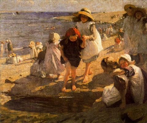 Лора Найт. Дети на берегу