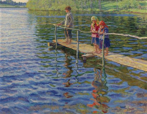 Nikolay Petrovich Bogdanov-Belsky. Fishing on the river