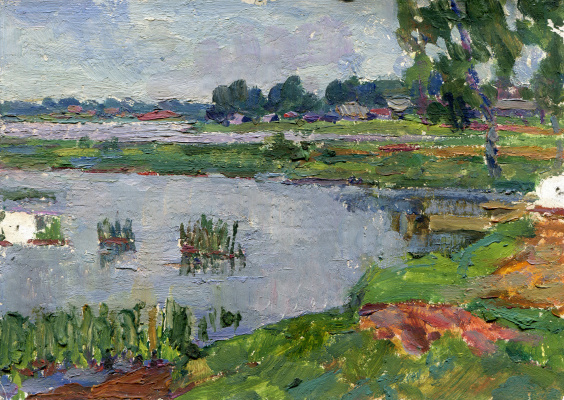 "Vasily Fadeevich Demin. Etude ""Lake View"""