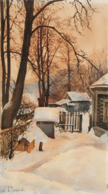 Elena Dmitrievna Polenova. Outside in the winter