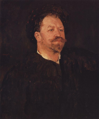 Valentin Aleksandrovich Serov. Portrait of Italian singer Francesco I