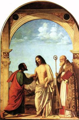 Giovanni Battista Cima da Conegliano. Incredulity Of St. Thomas