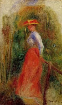 Pierre-Auguste Renoir. Woman in a Landscape