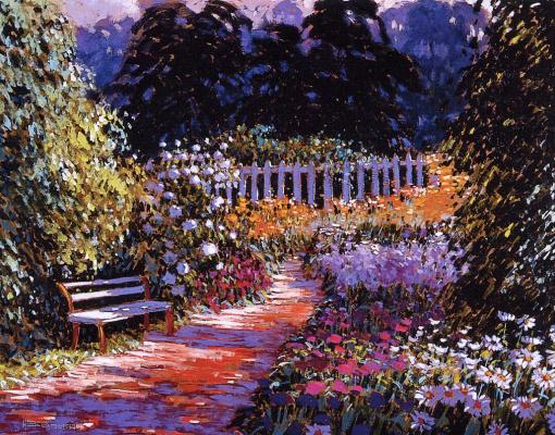 Андре Бертунеск. Сад в цвету