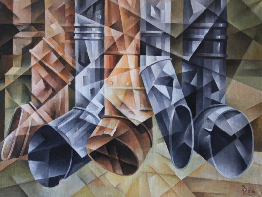 Vasily Krotkov. Flute of drainpipes. Kubofuturizm