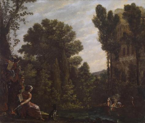 Агостино Тасси. Пейзаж со сценой чародейства