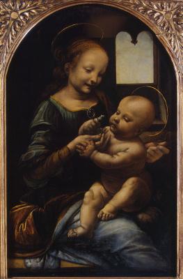 Leonardo da Vinci. The Benois Madonna