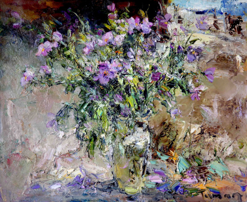 Tuman Art Gallery Tumana Zhumabayeva. Summer bouquet