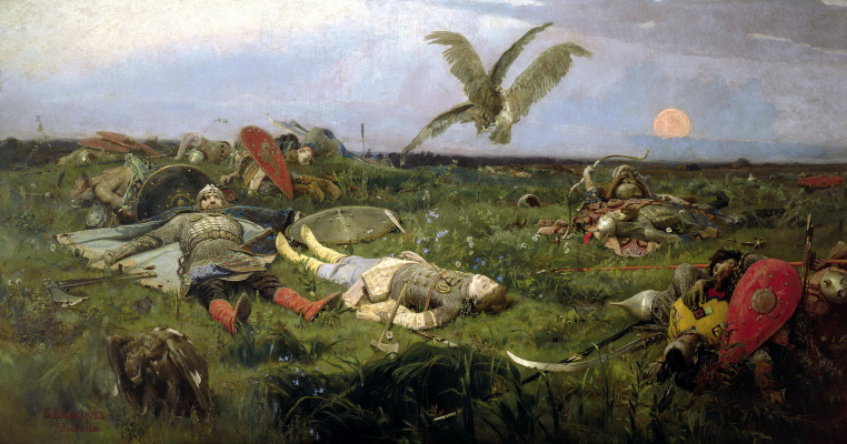 Victor Mikhailovich Vasnetsov. After the battle of Igor Svyatoslavich with the Polovtsy