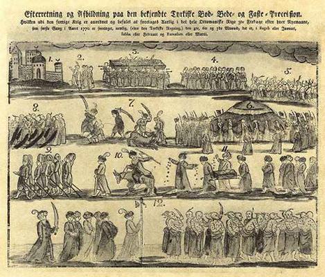 Томас Боруп. Турецкая процессия во время поста с покаянием и молитвой