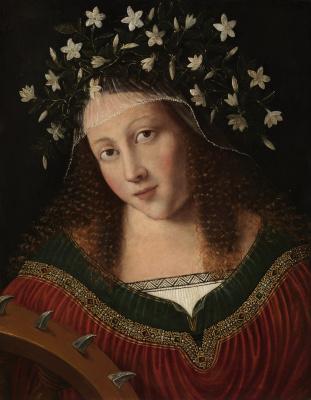 Veneto Bartolomeo. Saint Catherine in the crown