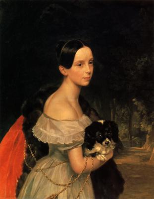 Karl Pavlovich Bryullov. Portrait of Grand Duchess Alexandra Nikolaevna