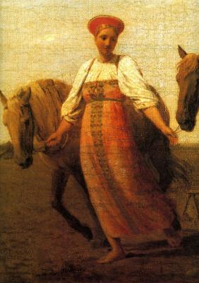 Alexey Gavrilovich Venetsianov. On the arable land. Spring. Detail