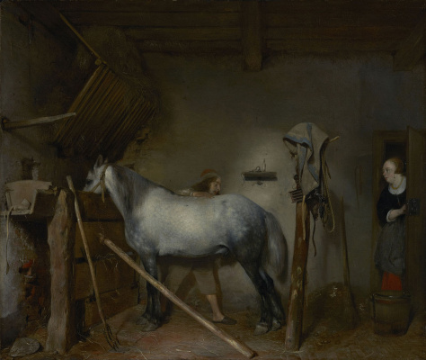 Gerard Terborch (ter Borch). Stable