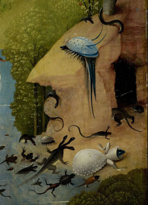 Hieronymus Bosch. The garden of earthly delights. Left. Fragment