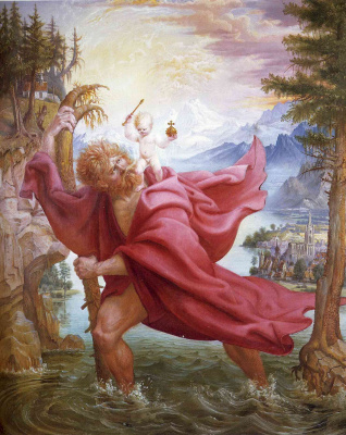 Otto Dix. St Christopher