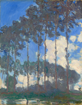 Claude Monet. Poplars on the river Epte