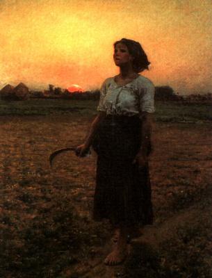 Jules Breton. Sunset