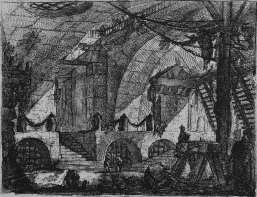 Giovanni Battista Piranesi. A series of Prisons, plate XII, the first state