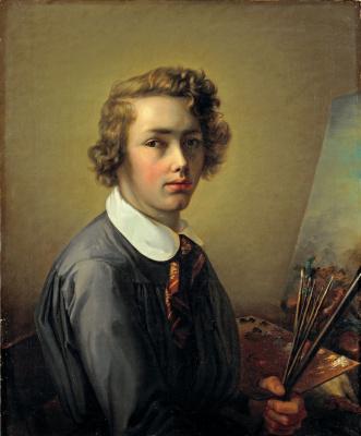 Рудольф Коллер. Автопортрет в 16 лет