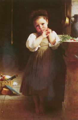 William-Adolphe Bouguereau. Sad girl