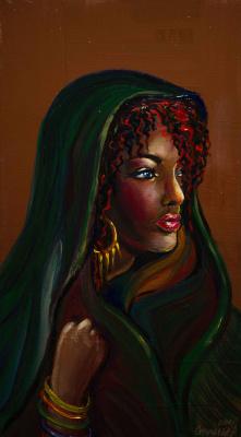"Alla Struchayeva. The painting ""Pending"""