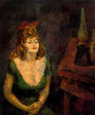 Arturo Souto. The woman in the green