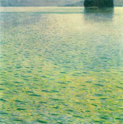 Gustav Klimt. Isle on lake Attersee