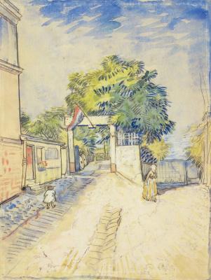 Entrance to the Moulin de La Galette
