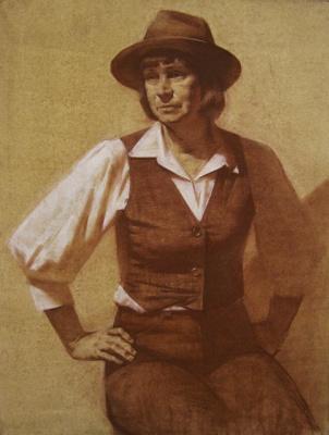 Екатерина Ивановна Киселева. Lady in hat