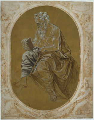Lorenzo di Credi. The Apostle reads the gospel