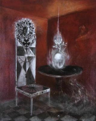 Leonora Carrington. The chair: the Goddess tribe Danu, the tuat de Danaan