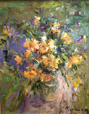 Tuman Art Gallery Tumana Zhumabayeva. Summer bouquet