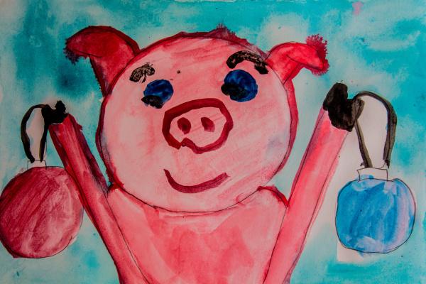 Katya S. Red pig
