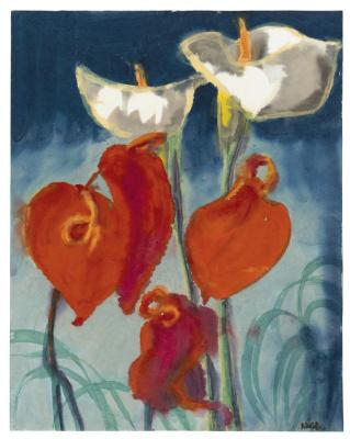 Emil Nolde. Calla lilies and atriums