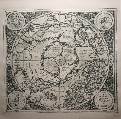 Igor Alexandrovich Chernyshov. Map of the legendary Hyperborea by the city of Mercator (1594)