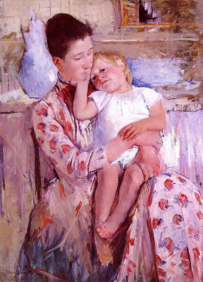 Mary Cassatt. Mother and child