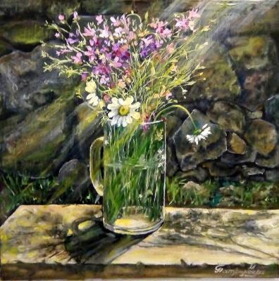 Marina Vladimirovna Patrikeeva. A bouquet lit by the sun!