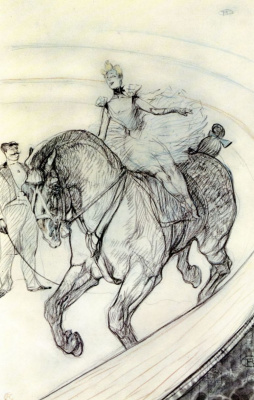 Henri de Toulouse-Lautrec. In the Circus, Work without Saddle