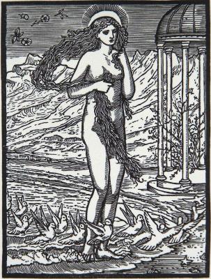 Уильям Моррис. Венера на берегу моря (соавторство с Эдвардом Бёрн-Джонсом)