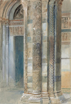 John Ruskin. Interior of the Cathedral of Lucca