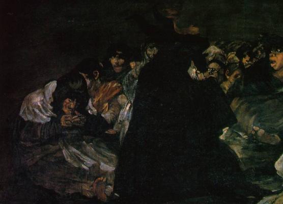 Франсиско Гойя. Великие козни или шабаш ведьм (Фрагмент)