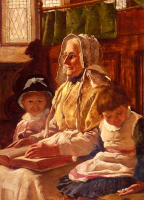 Эдвард Самуил Харпер. В церкви с бабушкой
