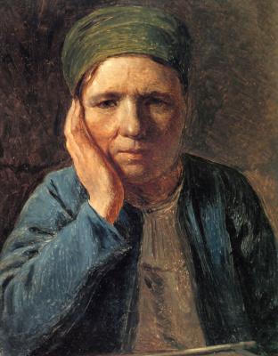 Alexey Gavrilovich Venetsianov. Peasant woman leaning on hand