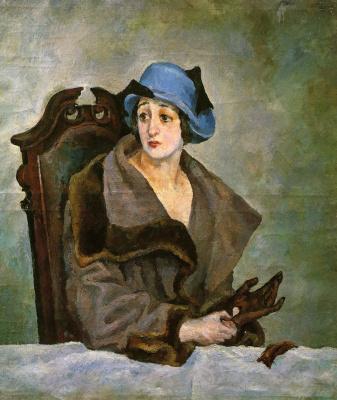 Александр Александрович Осмеркин. Женщина, снимающая перчатку