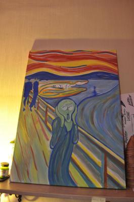 """Неизвестный  художник. Эдвард Мунк """"Крик"""" (авторская копия """"Современный крик"""")"""