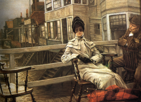 James Tissot. Waiting for the ferry